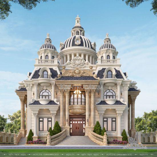 Thiết kế biệt thự lâu đài cổ điển 3 tầng (CĐT: bà Phượng - Sóc Trăng) BT33564