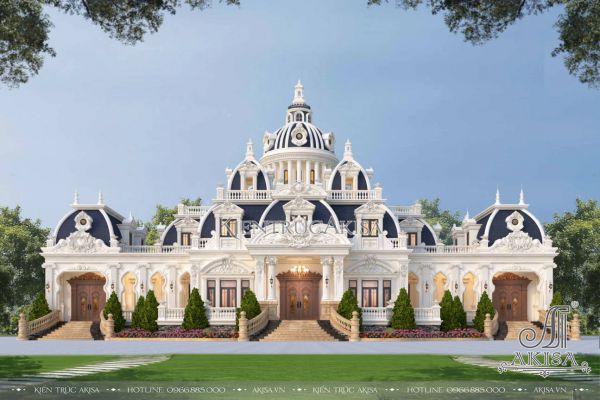 Thiết kế biệt thự lâu đài cổ điển 1 tầng (CĐT: bà Linh - Cần Thơ) BT13565