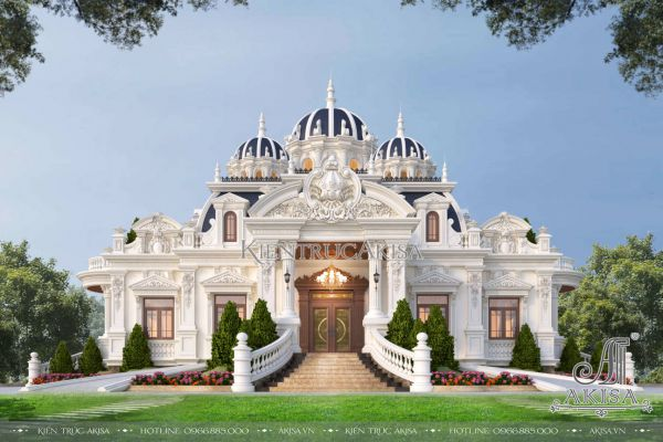 Mẫu biệt thự cổ điển kiểu Pháp 1 tầng (CĐT: ông Đại - Lâm Đồng) BT13566