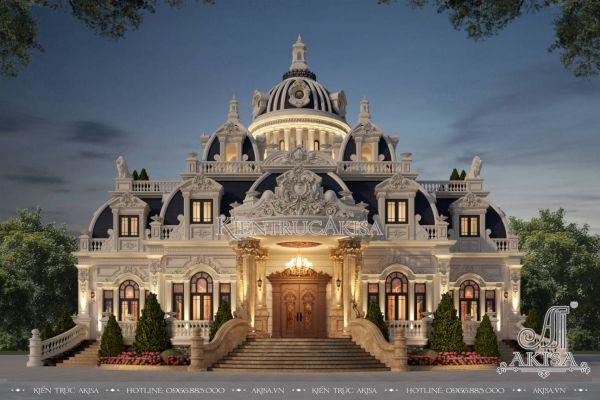 Mẫu biệt thự 1.5 tầng phong cách cổ điển (CĐT: ông Thuyết - An Giang) BT13567