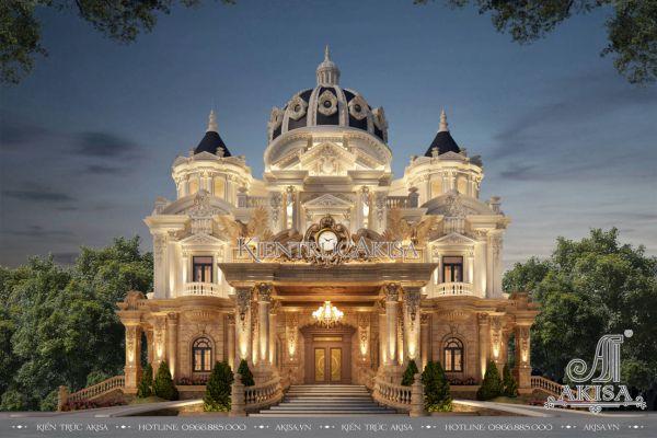 Thiết kế biệt thự lâu đài 2 tầng cổ điển Pháp (CĐT: ông Thành - Quảng Bình) BT23569