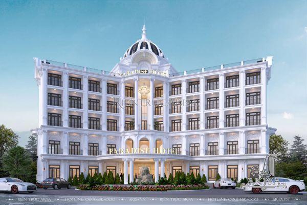 Thiết kế khách sạn 5 tầng tân cổ điển 3 sao (CĐT: ông Hùng - Cam Ranh) KT52570