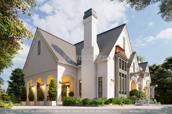 Biệt thự tân cổ điển mái Thái 1 tầng 4 phòng ngủ (CĐT: ông Đức - Hà Nội) BT12574