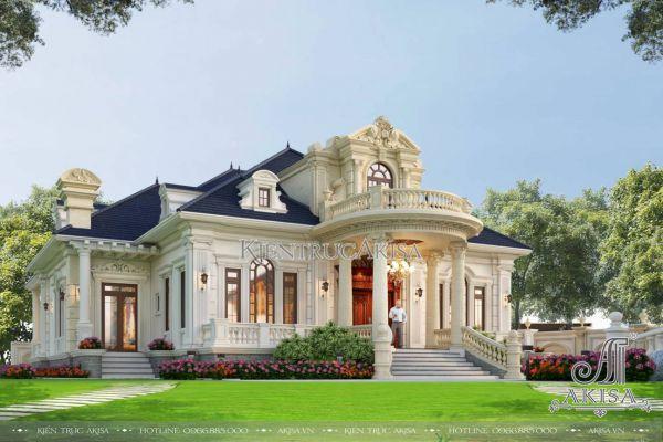 Thiết kế biệt thự cổ điển 1.5 tầng (CĐT: ông Nam - Vũng Tàu) BT13575