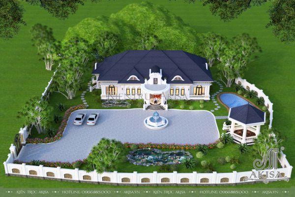 Biệt thự vườn 1 tầng 5 phòng ngủ mái Nhật đẹp (CĐT: ông Long - Phú Thọ) BT12576