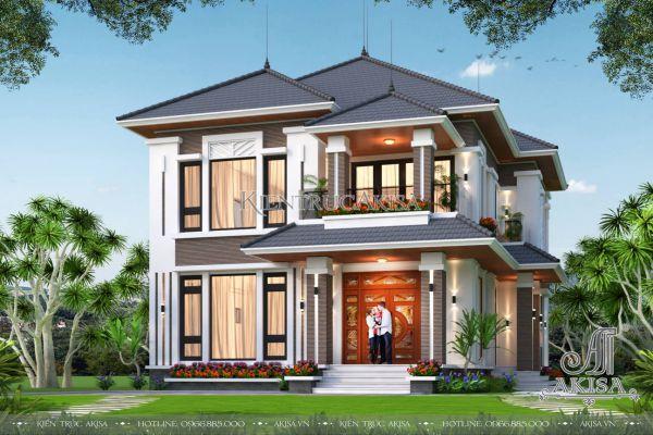 Biệt thự hiện đại 2 tầng 3 phòng ngủ 10x12m (CĐT: bà Ninh - Cao Bằng) BT21578