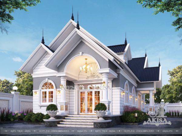 Biệt thự 1 tầng tân cổ điển mái Thái mặt tiền 5m (CĐT: bà Thanh - Hà Nội) BT12579