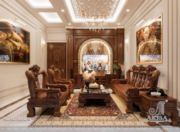 Thiết kế nội thất biệt thự đẹp 3 tầng 5 phòng ngủ (CĐT: ông Ánh - Ninh Bình) NT32521