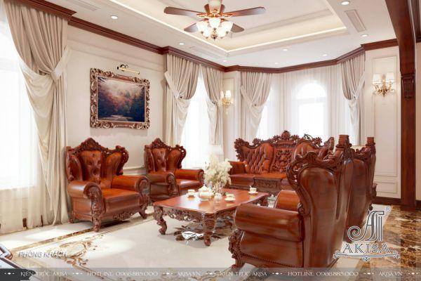 Thiết kế nội thất biệt thự 1 tầng 3 phòng ngủ (CĐT: ông Thuận - Vũng Tàu) NT12112