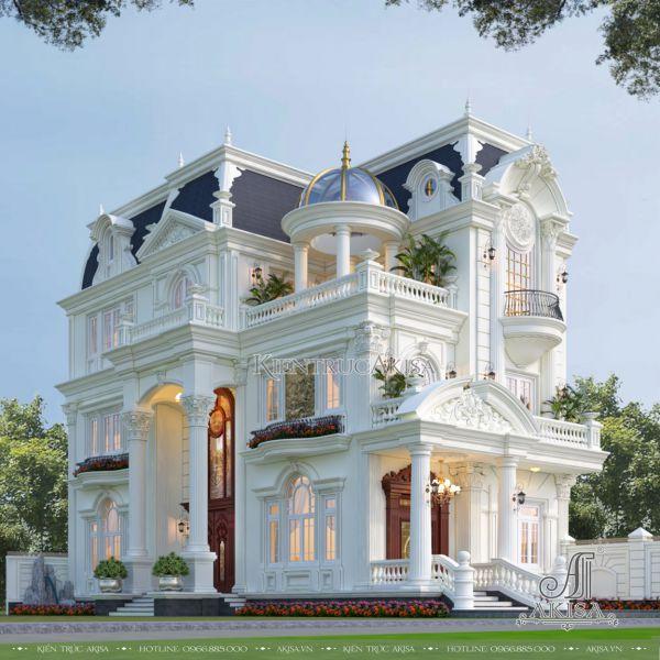 Thiết kế biệt thự 3 tầng phong cách cổ điển (CĐT: ông Hải - Hòa Bình) BT33582