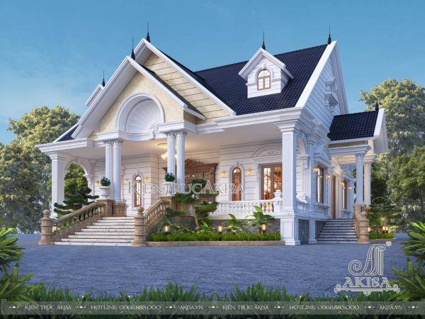 Mẫu nhà cấp 4 mái Thái 1 tầng tân cổ điển (CĐT: ông Quyết - Hà Nội) BT12583