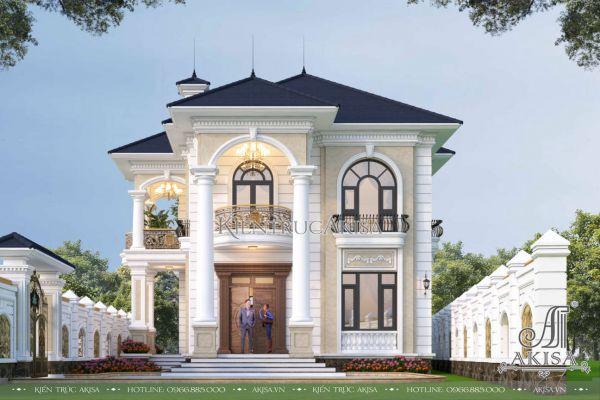 Mẫu biệt thự tân cổ điển 2 tầng 4 phòng ngủ (CĐT: ông Quỳnh - Phú Thọ) BT22589
