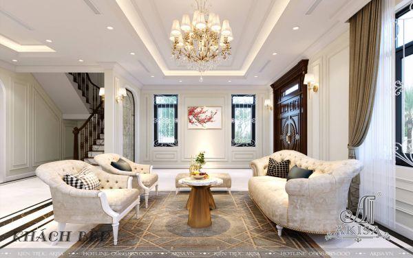 Thiết kế nội thất biệt thự tân cổ điển đẹp (CĐT: ông Trường - Hoài Đức) NT22531