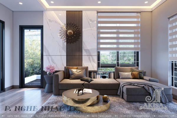 Thiết kế nội thất biệt thự phong cách hiện đại (CĐT: bà Thu - Hà Nam) NT31501