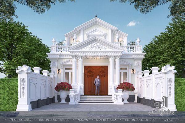 Mẫu biệt thự 1.5 tầng mái Thái 3 phòng ngủ (CĐT: bà Thủy - Hòa Bình) BT12594