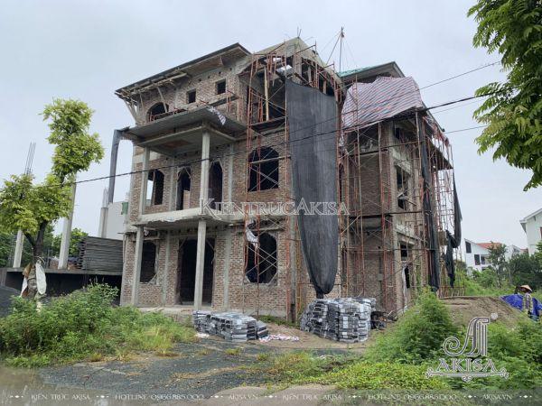 Hình ảnh thi công biệt thự 3 tầng tại Quốc Oai (CĐT: ông Vân - Hà Nội) TC32467