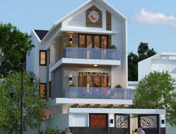 Vẻ đẹp mẫu nhà phố hiện đại 3 tầng KT31080