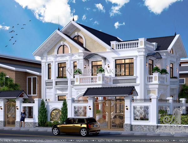 Hút mắt cùng biệt thự 2 tầng phong cách châu Âu mái Thái (CĐT: ông Trang - Thái Nguyên) BT22084