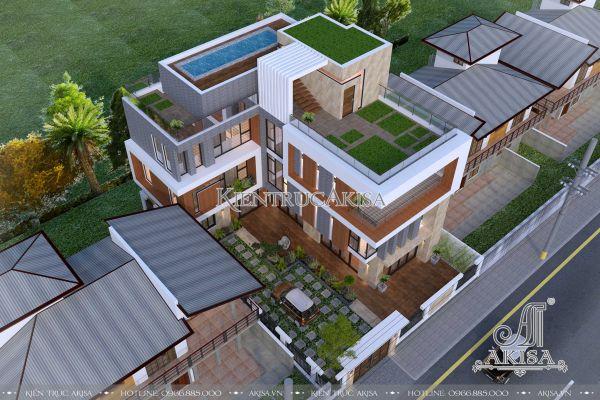 Độc đáo cùng biệt thự hiện đại 4 tầng có bể bơi (CĐT: ông Thanh - Quảng Bình) BT41085
