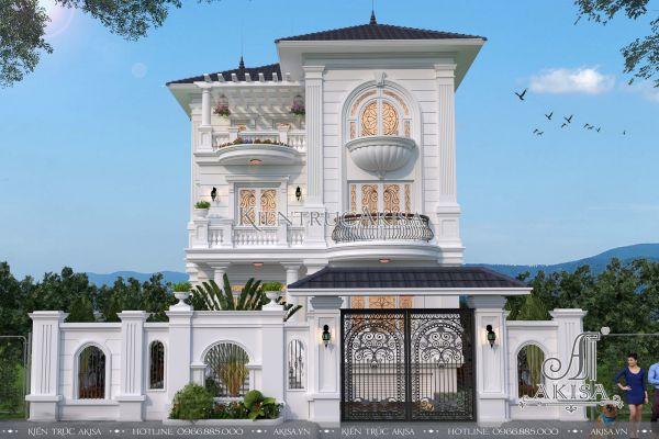 Biệt thự 3 tầng tân cổ điển đẹp (CĐT: ông Tuân - Thái Nguyên) BT32146
