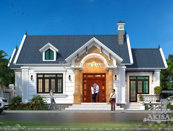 Mẫu nhà biệt thự 1 tầng mái thái đẹp 2 phòng ngủ 130m2 (CĐT:Anh Lực – Đồng Nai) BT12072