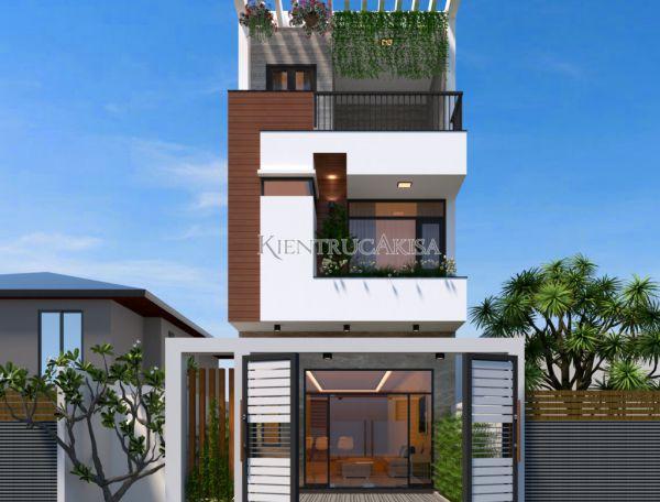 Thiết kế nhà phố 3 tầng hiện đại đẹp KT31024