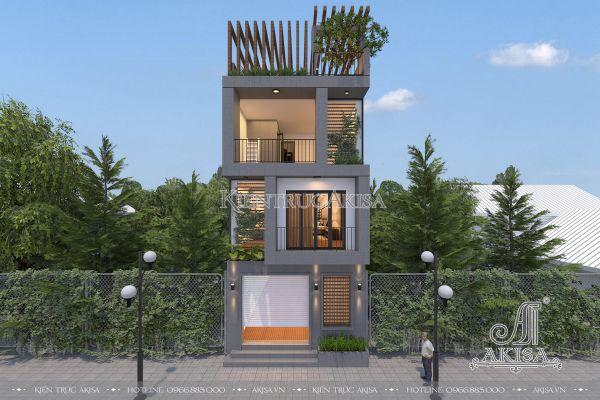Thiết kế nhà phố 3 tầng phong cách hiện đại KT41143