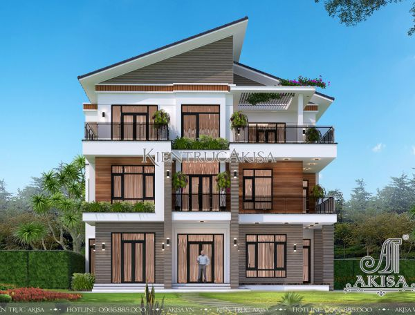 Kiến trúc biệt thự hiện đại 3 tầng (CĐT: ông Phan - Lâm Đồng) BT31311