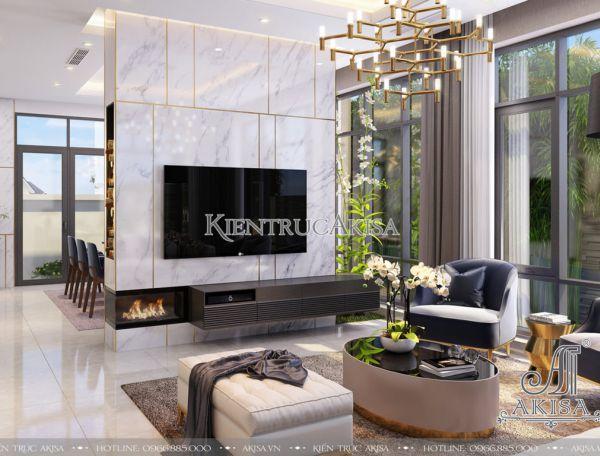 Thiết kế nội thất biệt thự đẹp hiện đại 3 phòng ngủ (CĐT: ông Đoàn - Phú Thọ) NT11024