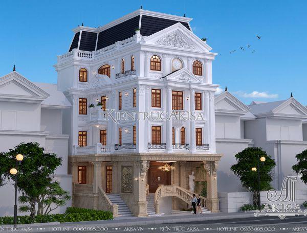 Thiết kế nhà ở kiểu Pháp kết hợp văn phòng (CĐT: ông Quang - Hưng Yên) KT52243