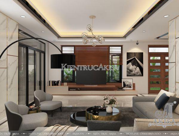 Thiết kế nội thất biệt thự hiện đại đẹp sang trọng (CĐT: bà Yến - Vĩnh Phúc) NT11028