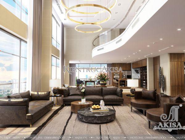 Nội thất căn hộ Penthouse hiện đại sang trọng (CĐT: bà Nga - Hà Nội) NT21038