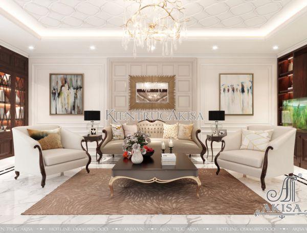 Mẫu nội thất nhà phố tân cổ điển Luxury đẹp đẳng cấp NT12055