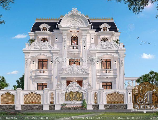 Đẳng cấp mẫu biệt thự kiểu Pháp đẹp 3 tầng (CĐT: ông Hà - Hà Giang) BT32325
