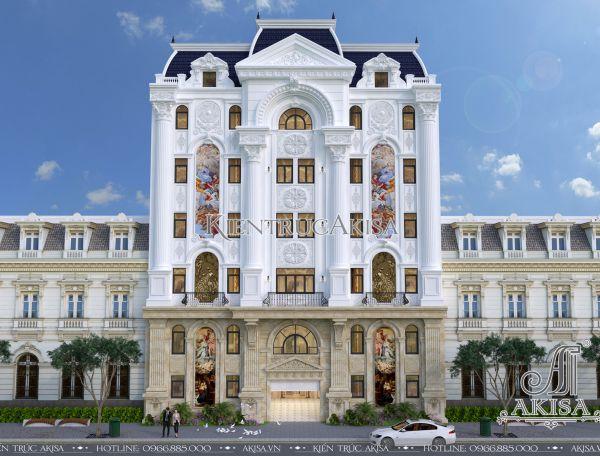 Thiết kế khách sạn tân cổ điển Pháp (CĐT: ông Bình - Hải Phòng) KT72207