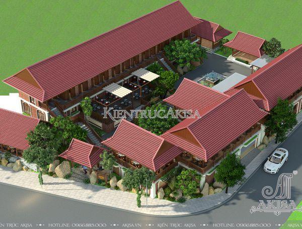 Thiết kế nhà hàng phong cách Á Đông (CĐT: ông Linh - Nghệ An) KT24007