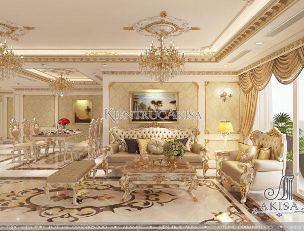 Thiết kế nội thất chung cư tân cổ điển (CĐT: ông Tuyên - Hà Nội) NT22018