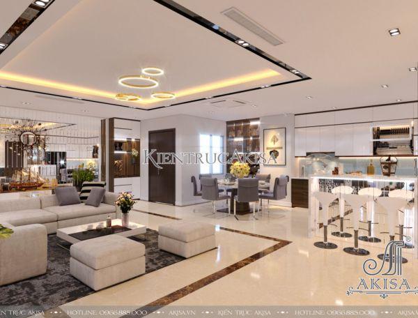 Thiết kế nội thất căn hộ PENTHOUSE hiện đại (CĐT: ông Minh - Nghệ An) NT21037