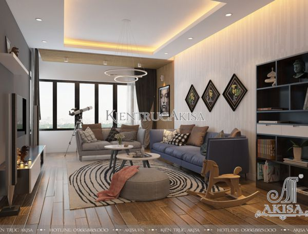 Thiết kế nội thất chung cư hiện đại 3 phòng ngủ (CĐT: ông Huy - Hà Nội) NT21047