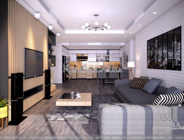 Mẫu thiết kế nội thất chung cư đẹp hiện đại (CĐT: ông Hồng - Hà Nội) NT21043
