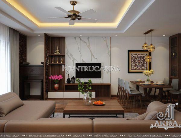 Thiết kế nội thất chung cư một phòng ngủ (CĐT: bà Diêp - Hà Nội) NT21052