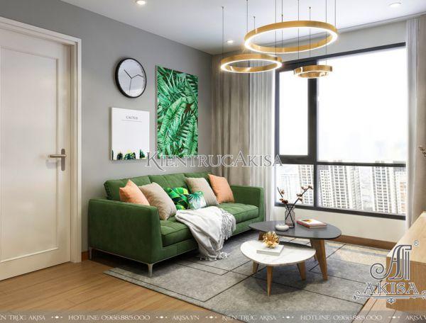 Mẫu nội thất chung cư hiện đại 2 phòng ngủ đẹp (CĐT: ông Tú - Hà Nội) NT21039