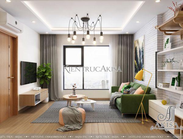Thiết kế nội thất hiện đại chung cư The K park (CĐT: ông Trung - Hà Nội)  NT21012