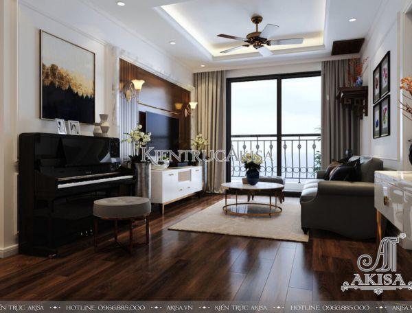 Thiết kế nội căn hộ chung cư phong cách hiện đại (CĐT: ông Hùng - Hà Nội) NT21053