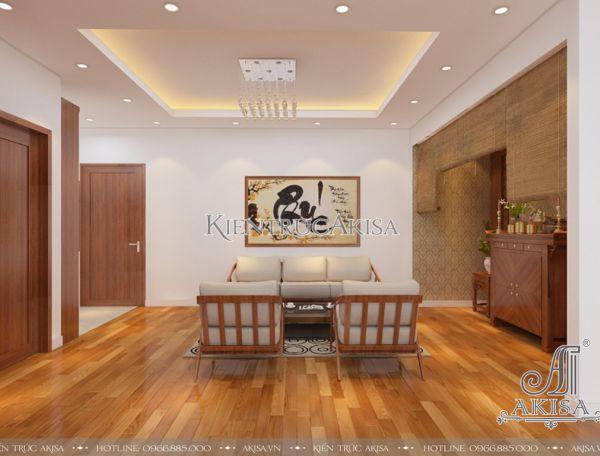 Thiết kế nội thất chung cư hiện đại Complex City (CĐT: ông Hùng - Hà Nội) NT21046