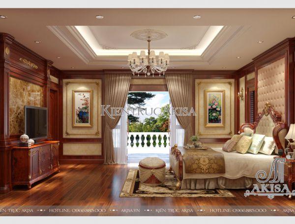 Thiết kế nội thất biệt thự tân cổ điển 2 phòng ngủ NT12034