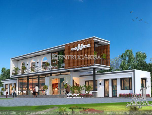 Thiết kế quán cafe hiện đại dành cho giới trẻ (CĐT: ông Tín - Thái Nguyên) KT21241