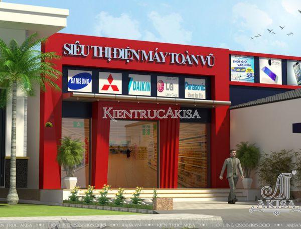 Thiết kế siêu thị mini 1 tầng hiện đại tại Hà Nội KT11017