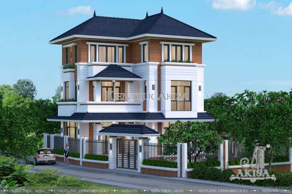 Thiết kế biệt thự 3 tầng mái Nhật hiện đại (CĐT: ông Văn - Ninh Bình) BT31091