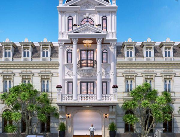 Mẫu nhà lô phố tân cổ điển 4 tầng (CĐT: bà Loan - Quảng Ninh) KT42136
